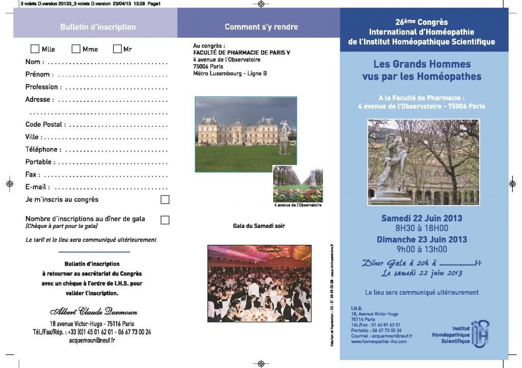 congres IHS 2013 programme