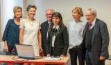 Équipe enseignante de G à Dte: Dr D. ERAUD-étudiante Dr M.-C. bARBOTIN-Dr R. SERFATY-Dr F. BOUKHOBZA-Dr G. DUBOIS-Dr A.-C. QUEMOUN