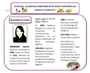 Présentation Samira ZINEDDINE